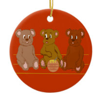 Three Bears Ornament