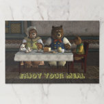 Three Bears Paper Placemat