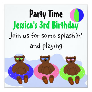 Three Bears Party Card