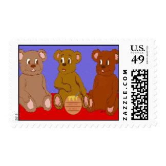 Three Bears Stamp