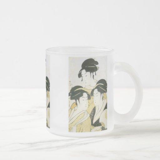Three Beauties, Utamaro, 1790s Mug