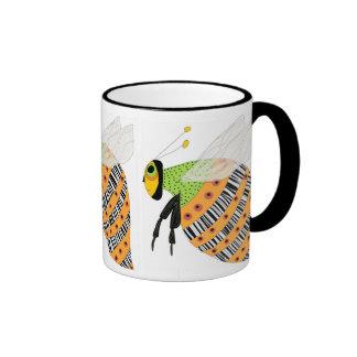 Three Bee Barcode Bee Ringer Coffee Mug