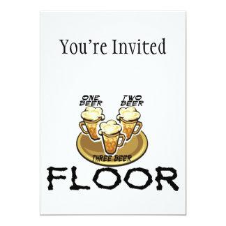 Three Beer Floor 5x7 Paper Invitation Card