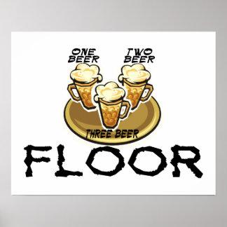 Three Beer Floor Poster