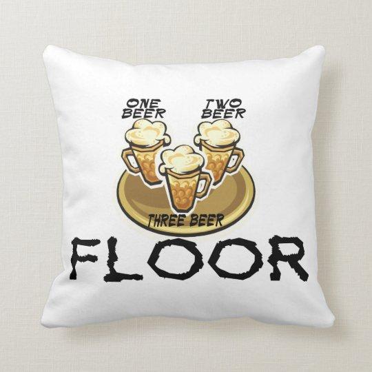 Three Beer Floor Throw Pillow
