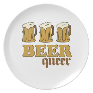 Three Beer Queer (2) Party Plates