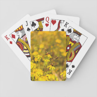 Three bees is not a crowd playing cards