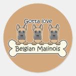 Three Belgian Malinois Sticker