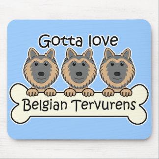 Three Belgian Tervurens Mouse Pad