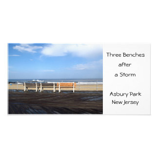 Three Benches after a Storm, Asbury Park, NJ Card