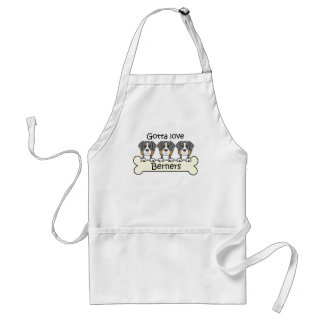 Three Bernese Mountain Dogs Adult Apron