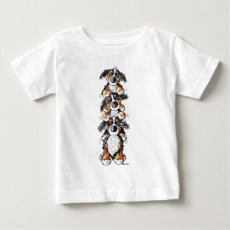 Three Bernese Mountain Dogs Cartoon Infant T-shirt