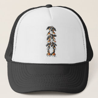 Three Bernese Mountain Dogs Cartoon Trucker Hat