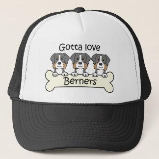 Three Bernese Mountain Dogs Trucker Hat