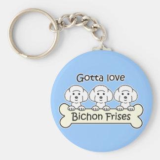 Three Bichon Frises Keychain