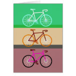 Three Bicycles Greeting Card
