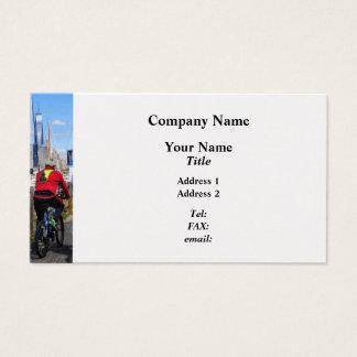 Three Bicyclists By Liberty Landing Marina Business Card