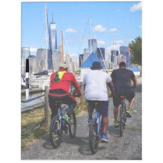 Three Bicyclists By Liberty Landing Marina Dry-Erase Board