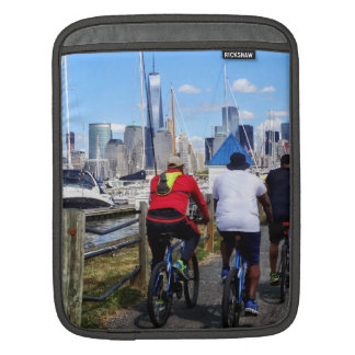 Three Bicyclists By Liberty Landing Marina Sleeves For iPads