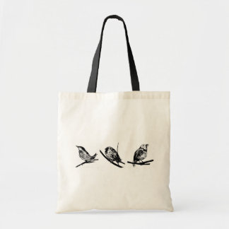Three Birds Tote Bags