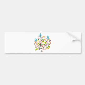three birds bumper sticker