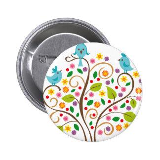 three birds button