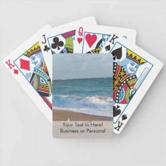three birds on shore photo florida beach bicycle playing cards