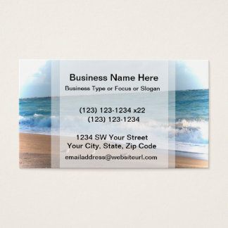 three birds on shore photo florida beach business card