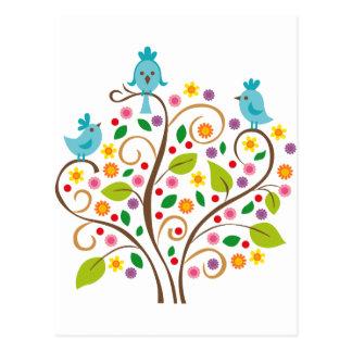 three birds postcard