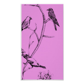 Three Birds Talking ~ Print / Poster