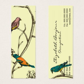 Three Birds Talking ~ Slim Business Card