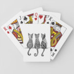 """Three Black and White Cats on Playing Cards<br><div class=""""desc"""">This art form is an easy-to-learn, relaxing, and fun way to create beautiful images by drawing structured patterns. Almost anyone can use it to create beautiful images. It increases focus and creativity, provides artistic satisfaction along with an increased sense of personal well being. It is enjoyed all over the world...</div>"""
