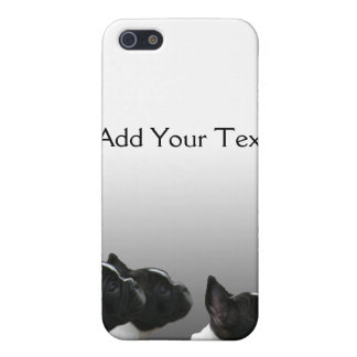 Three Black and White French Bulldogs iPhone SE/5/5s Cover