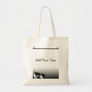 Three Black and White French Bulldogs Tote Bag