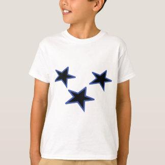 three black horizontal stars T-Shirt