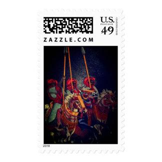 Three Black horseman Stamp