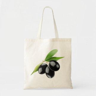 Three black olives tote bag