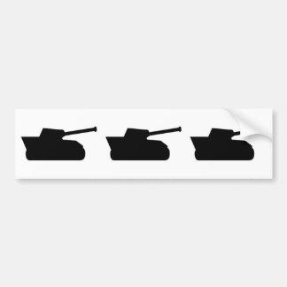 three black tanks icon bumper sticker