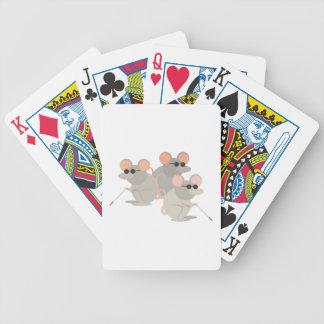 Three Blind Mice Bicycle Playing Cards