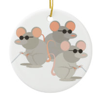 Three Blind Mice Ceramic Ornament