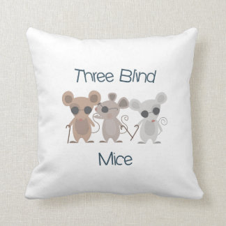 Three Blind Mice Throw Pillows
