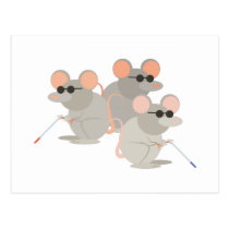 Three Blind Mice Postcard