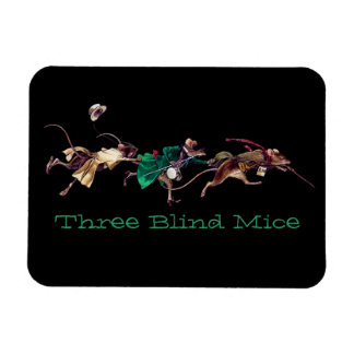 Three Blind Mice Rectangular Magnet
