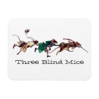 Three Blind Mice Vinyl Magnet