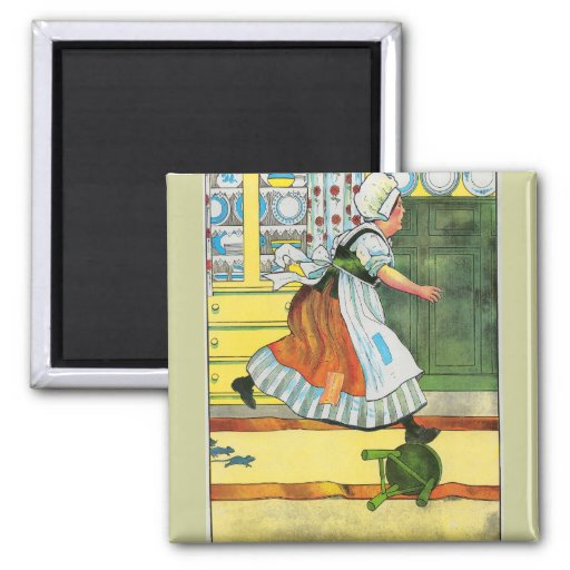 Three blind mice! See how they run! 2 Inch Square Magnet