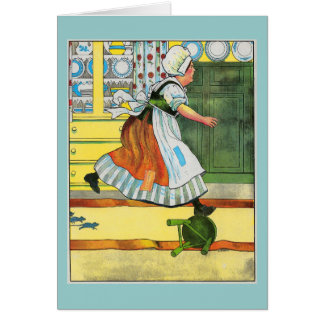 Three blind mice! See how they run! Greeting Cards