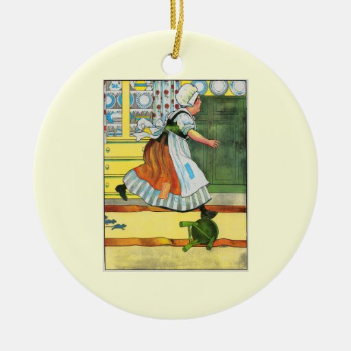 Three blind mice! See how they run! Double-Sided Ceramic Round Christmas Ornament