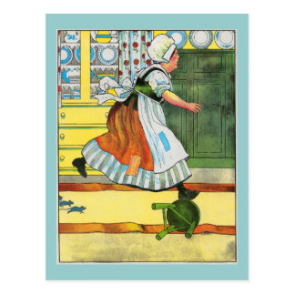 Three blind mice See how they run Postcard
