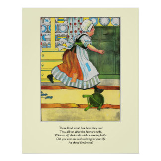 Three blind mice! See how they run! Print