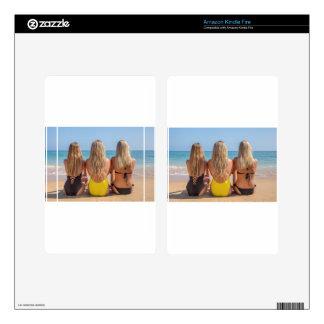 Three blonde dutch girls sit on beach.JPG Kindle Fire Skins